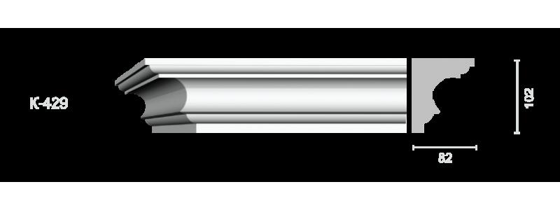 Гладкий карниз К-429