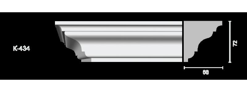 Гладкий карниз К-434