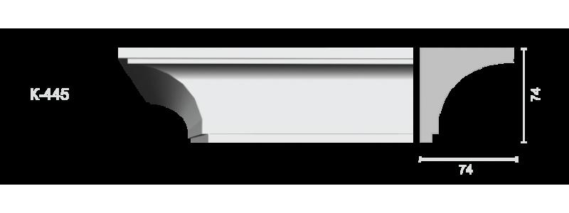 Гладкий карниз К-445