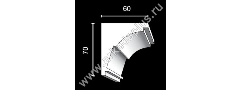 Гладкий карниз К-450