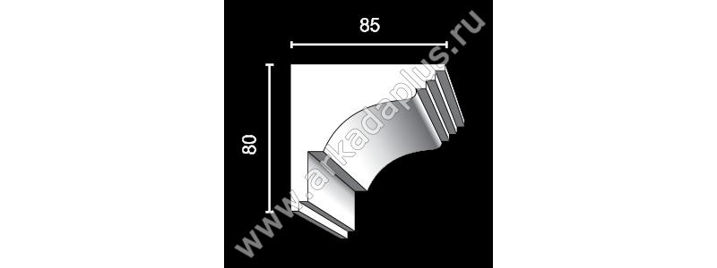 Гладкий карниз К-453