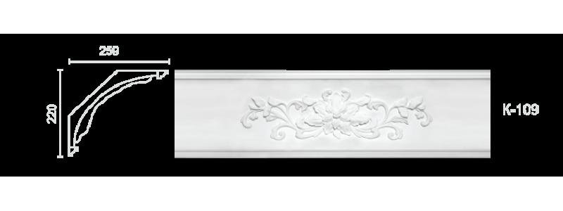 Декорированный карниз К-109