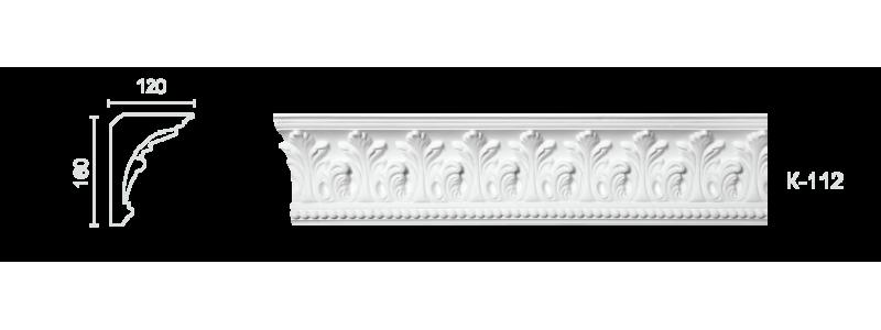 Декорированный карниз К-112