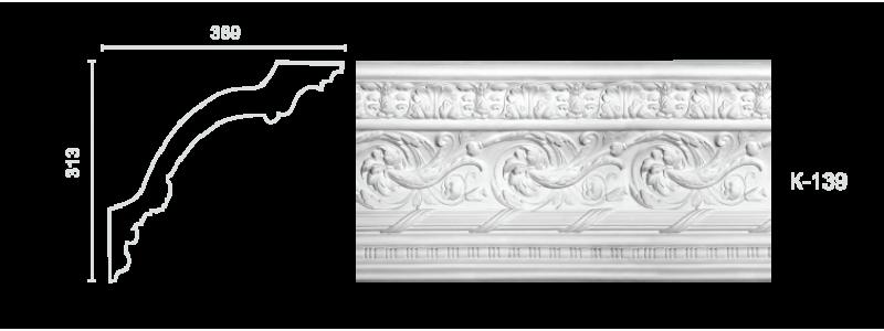 Декорированный карниз К-139