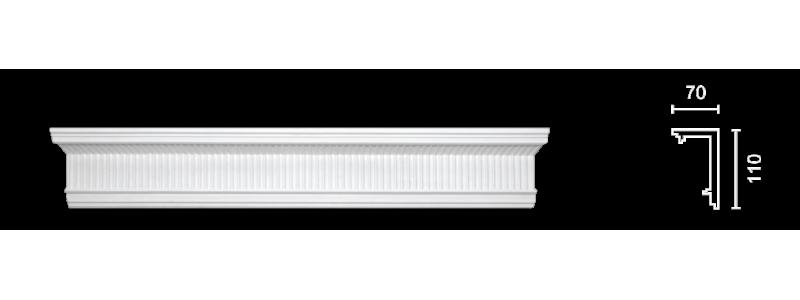 Декорированный карниз К-157