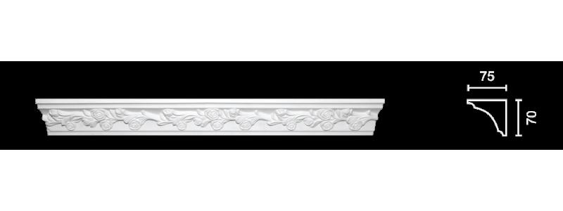 Декорированный карниз К-158