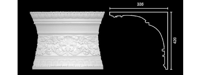 Декорированный карниз К-161