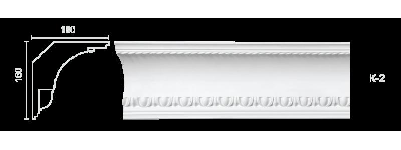 Декорированный карниз К-2