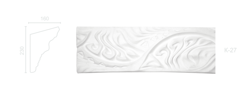 Декорированный карниз К-27