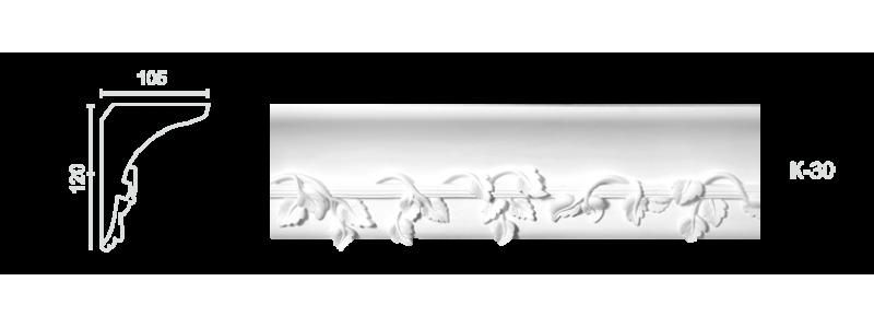 Декорированный карниз К-30