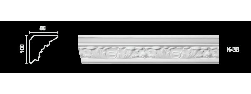 Декорированный карниз К-38