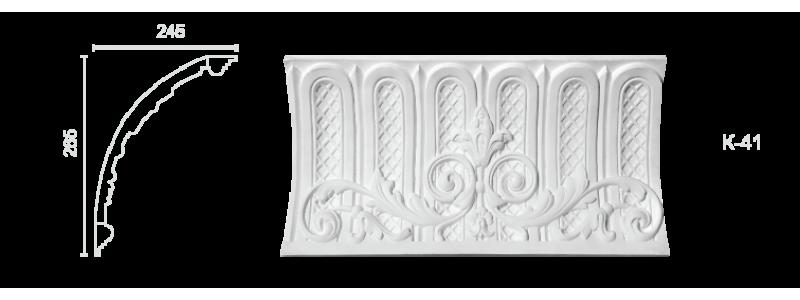 Декорированный карниз К-41