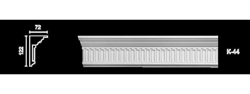 Декорированный карниз К-44