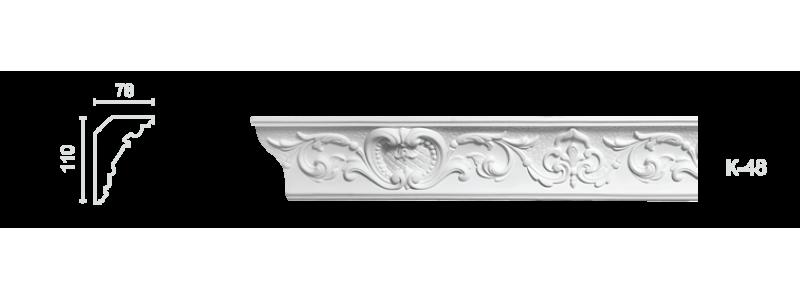 Декорированный карниз К-48