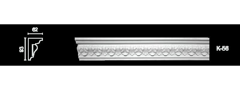 Декорированный карниз К-56