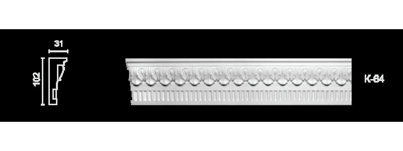 Декорированный карниз К-64