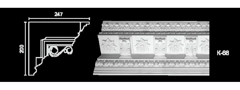 Декорированный карниз К-68