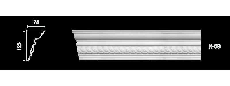 Декорированный карниз К-69