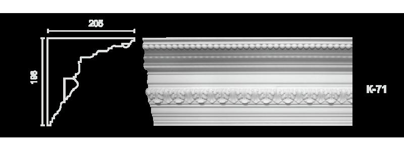 Декорированный карниз К-71