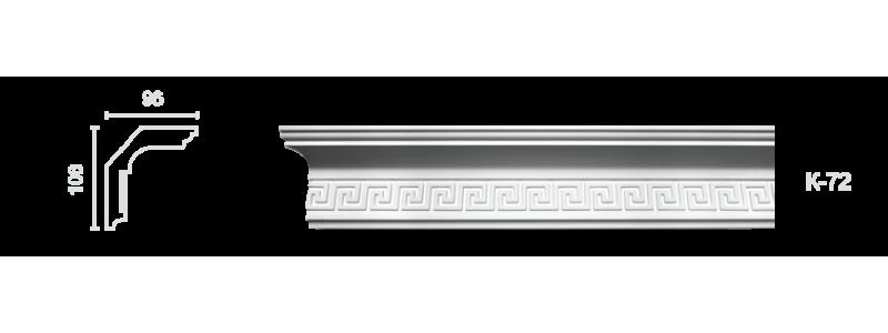 Декорированный карниз К-72
