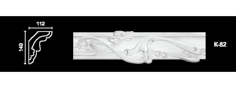 Декорированный карниз К-82