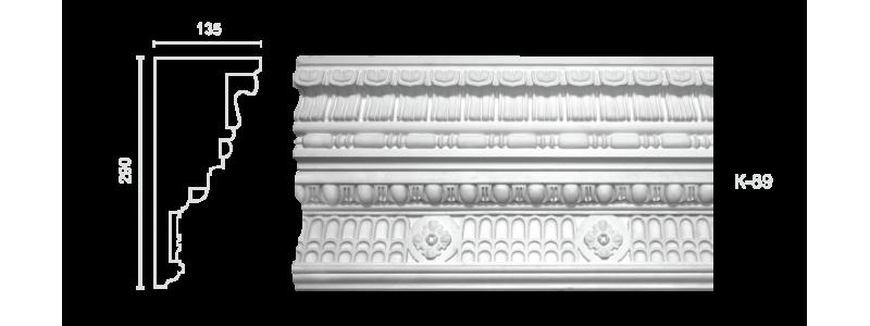 Декорированный карниз К-89