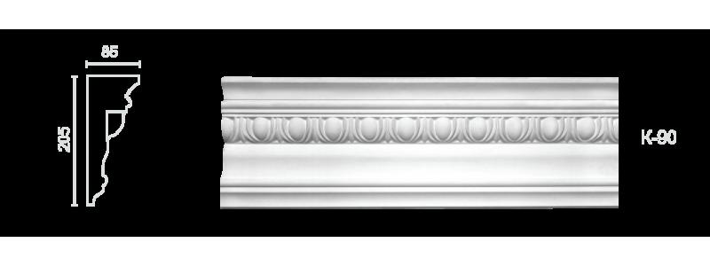 Декорированный карниз К-90