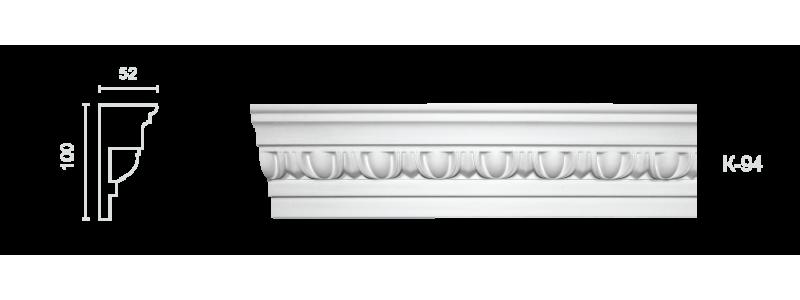 Декорированный карниз К-94