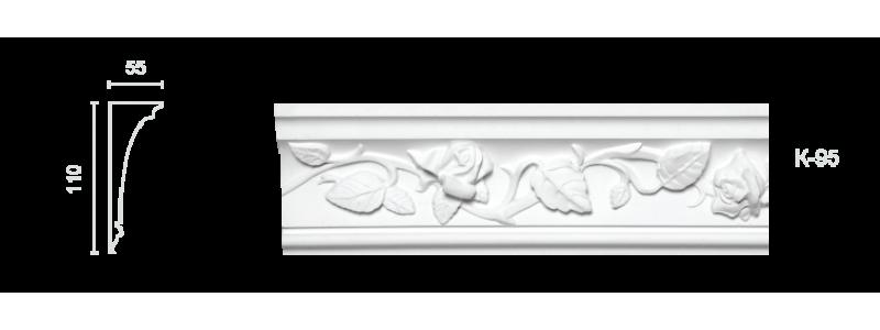 Декорированный карниз К-95
